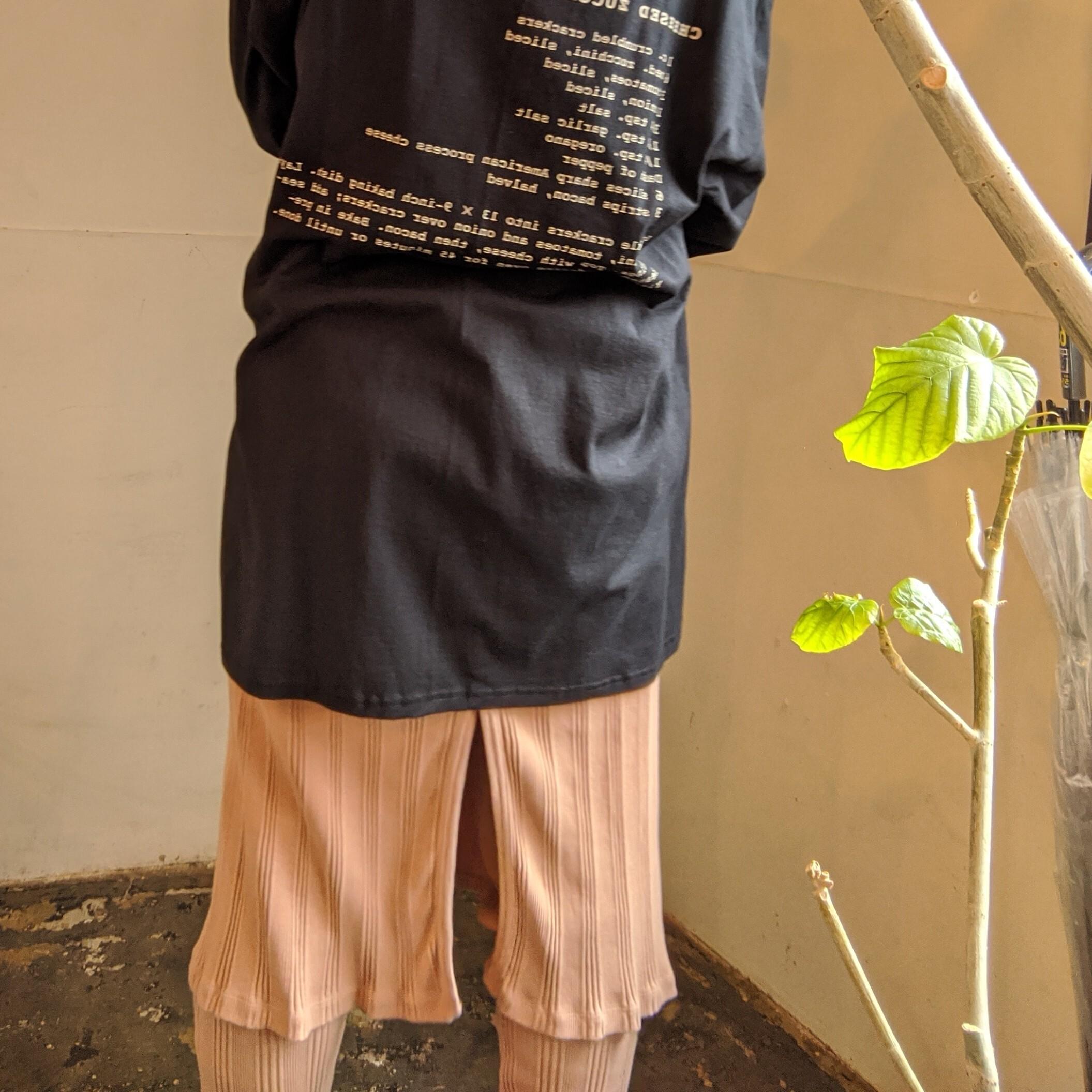 【 IROR BRILLIANT MARKET 】イロアール RANDOM RIB RAP LEGGINDS/ OLD ROSE リブレギンス