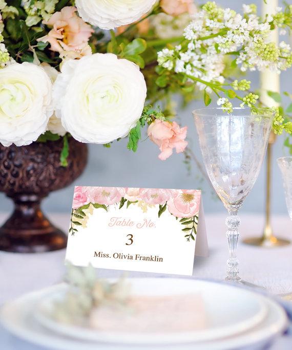 【Floral】ゲストが何名でもこの値段♥︎自分で作る海外ウェディング風 席札│結婚式