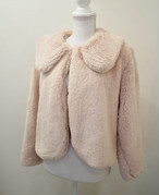 【KissMeLove】Collar Fur Coat