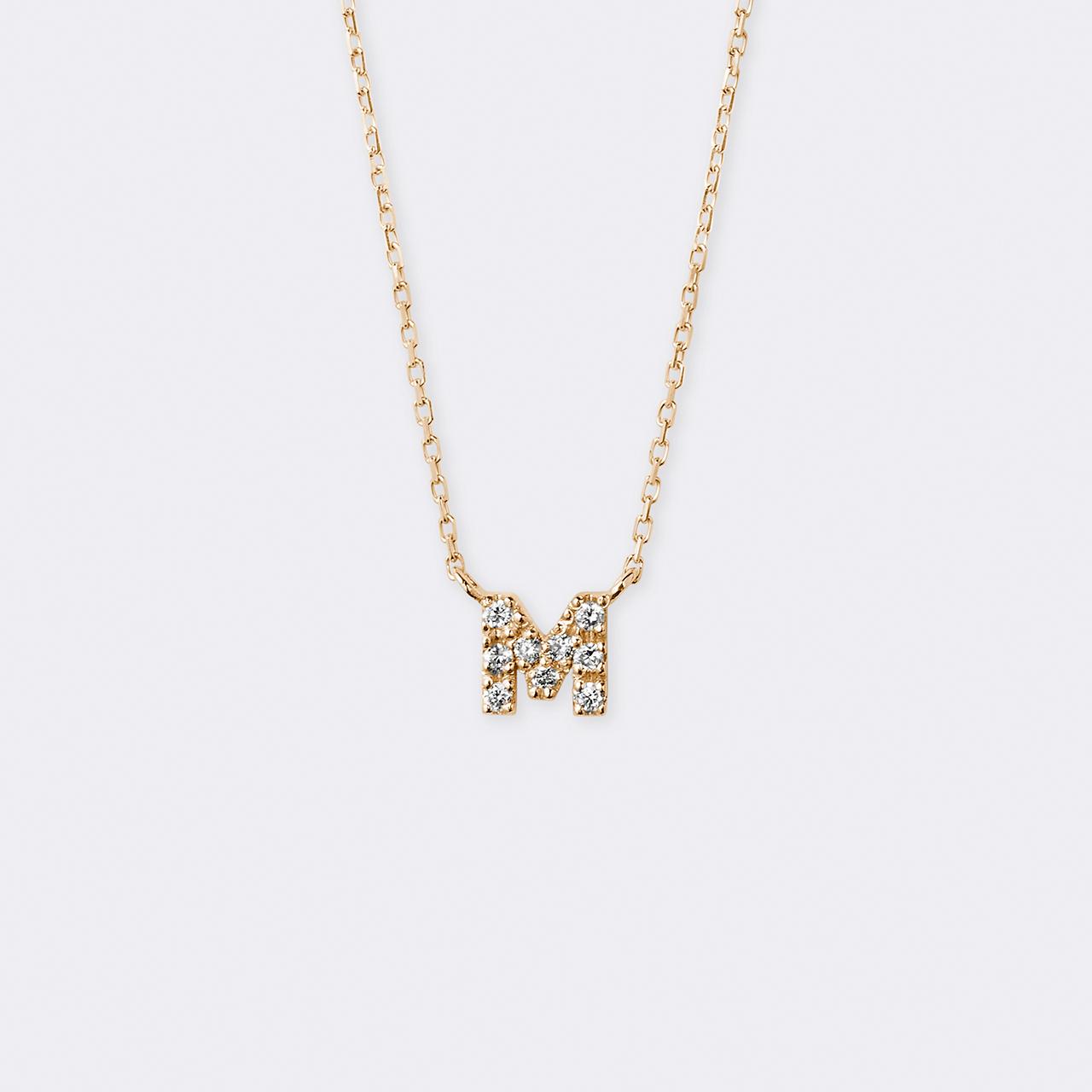Initial Diamond Necklace K10YG(イニシャルダイヤモンドネックレス K10イエローゴールド)