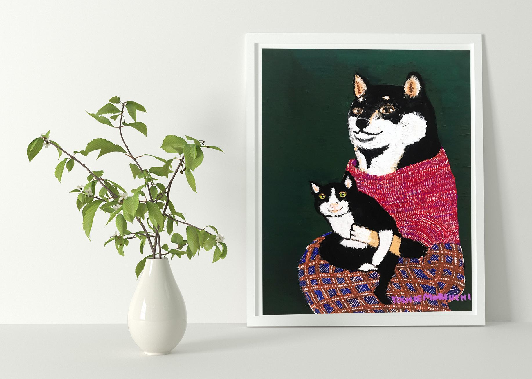 【原画・新作】 黒柴さんと黒猫さん(Dear Kuroshiba and Kuroneko)