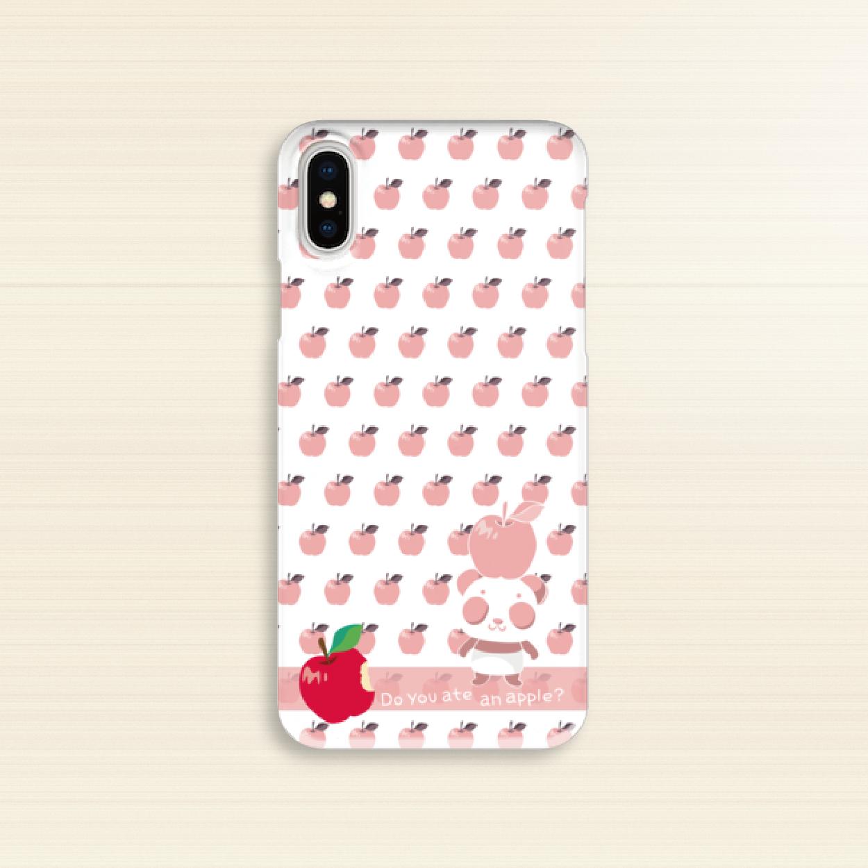 B*iPhone XR/XSMax/iPhone6Plus/6sPlus/7Plus/8Plus*透明ハードケース*CA19-19PHCo*ピンク*リンゴを食べたのは誰?