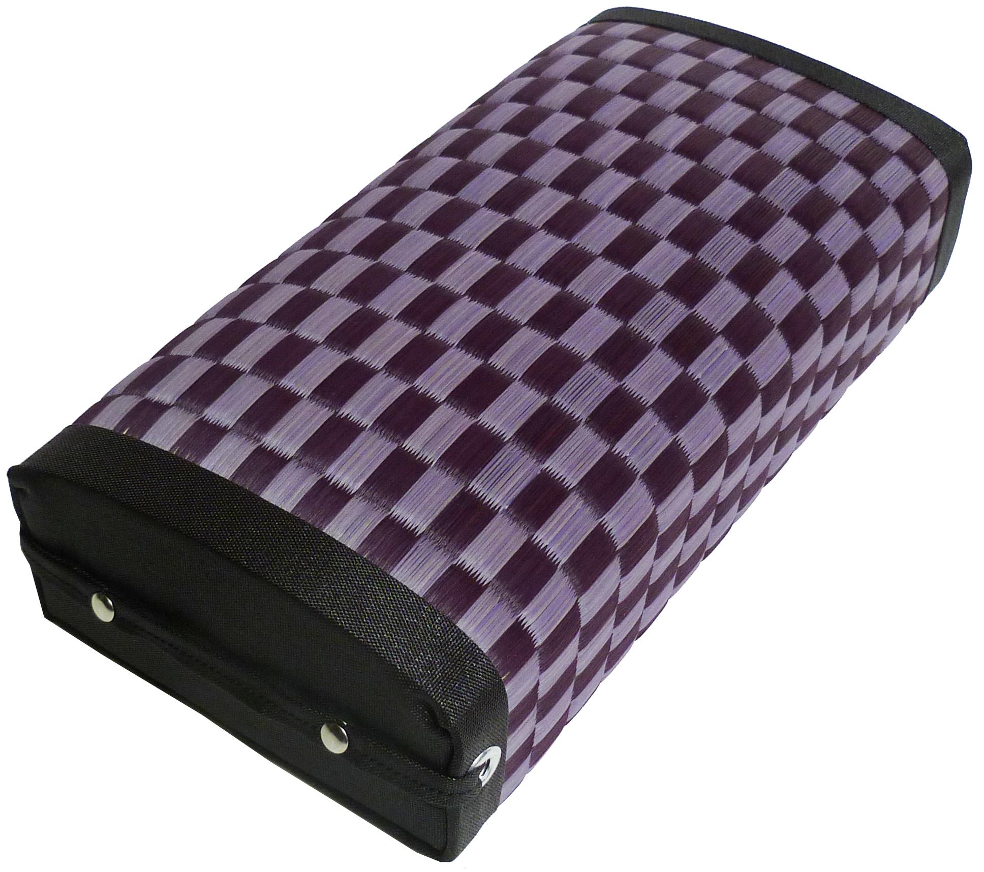 【あぐら座まくら】紫 市松