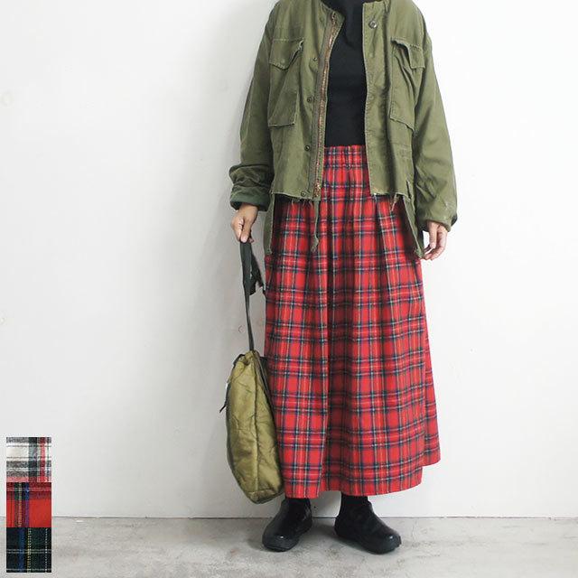 【再入荷なし】 Neu-tral wear life ニュートラルウェアライフ 起毛チェックスカート (品番n-110)