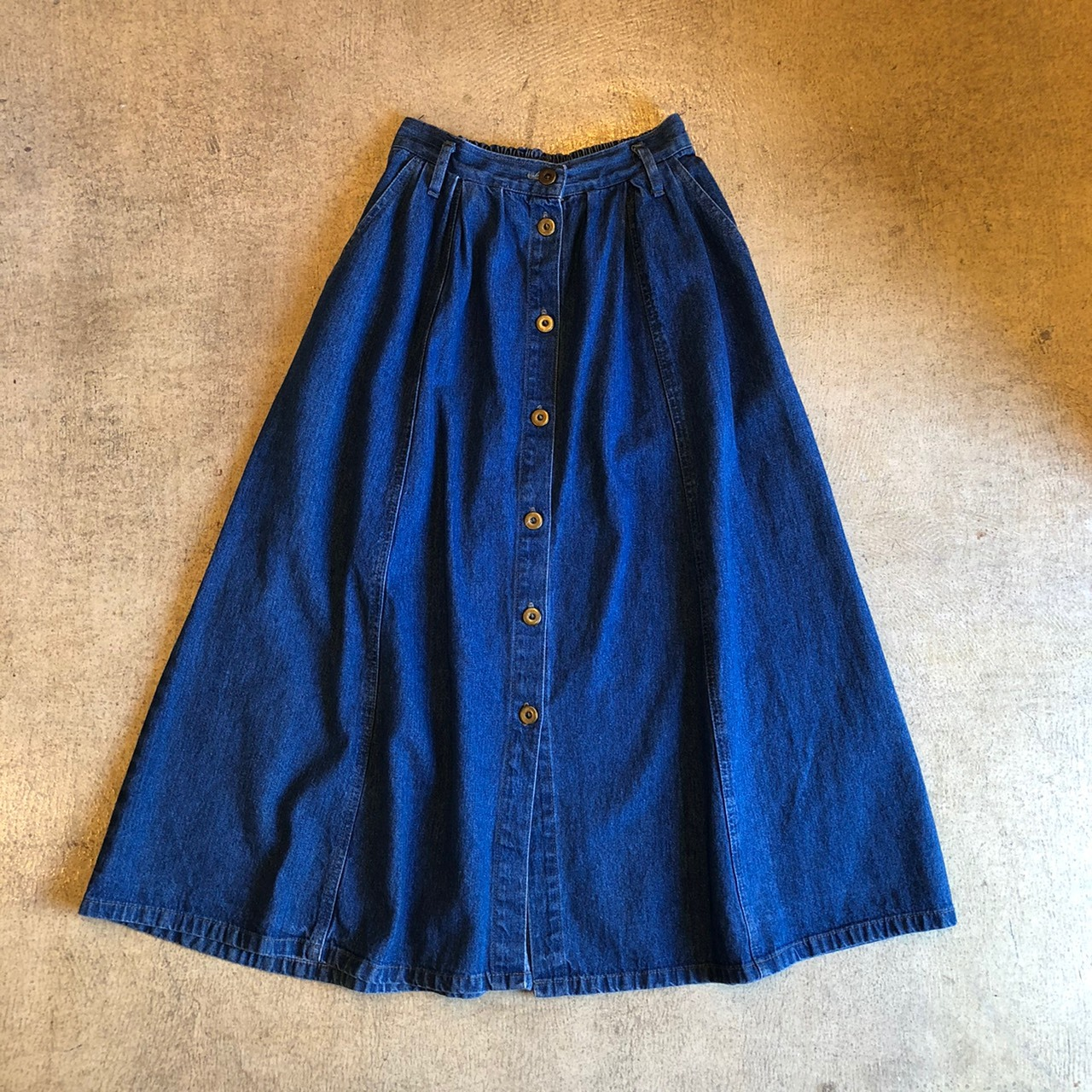 Denim Long Skirt ¥4,900+tax
