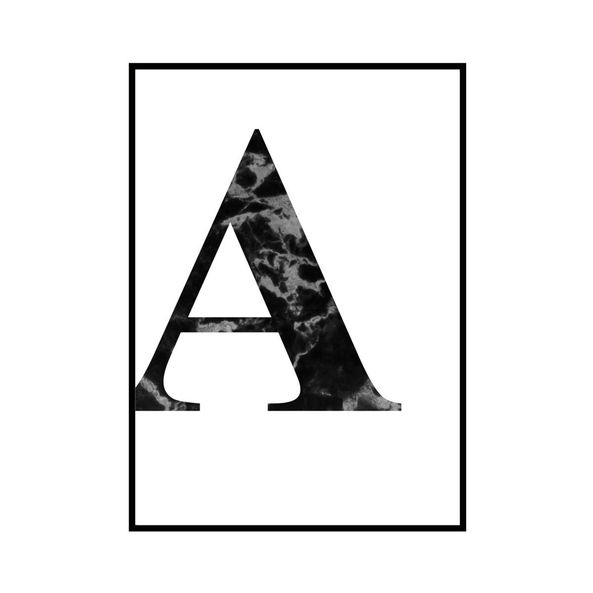 """A"" 黒大理石 - Black marble - ALPHAシリーズ [SD-000502] A1サイズ ポスター単品"