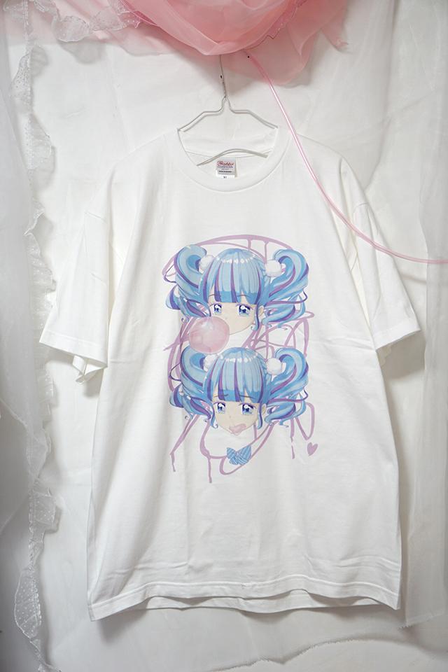 『フーセンガムTシャツ(青っぽい)』