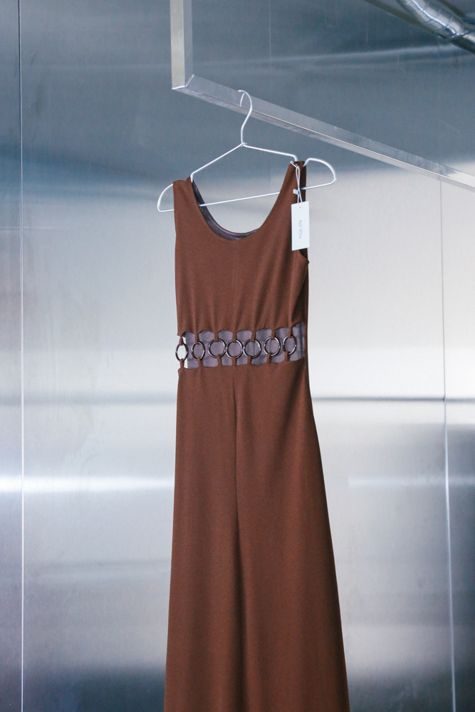 60's Brown Maxi Dress (Italy)