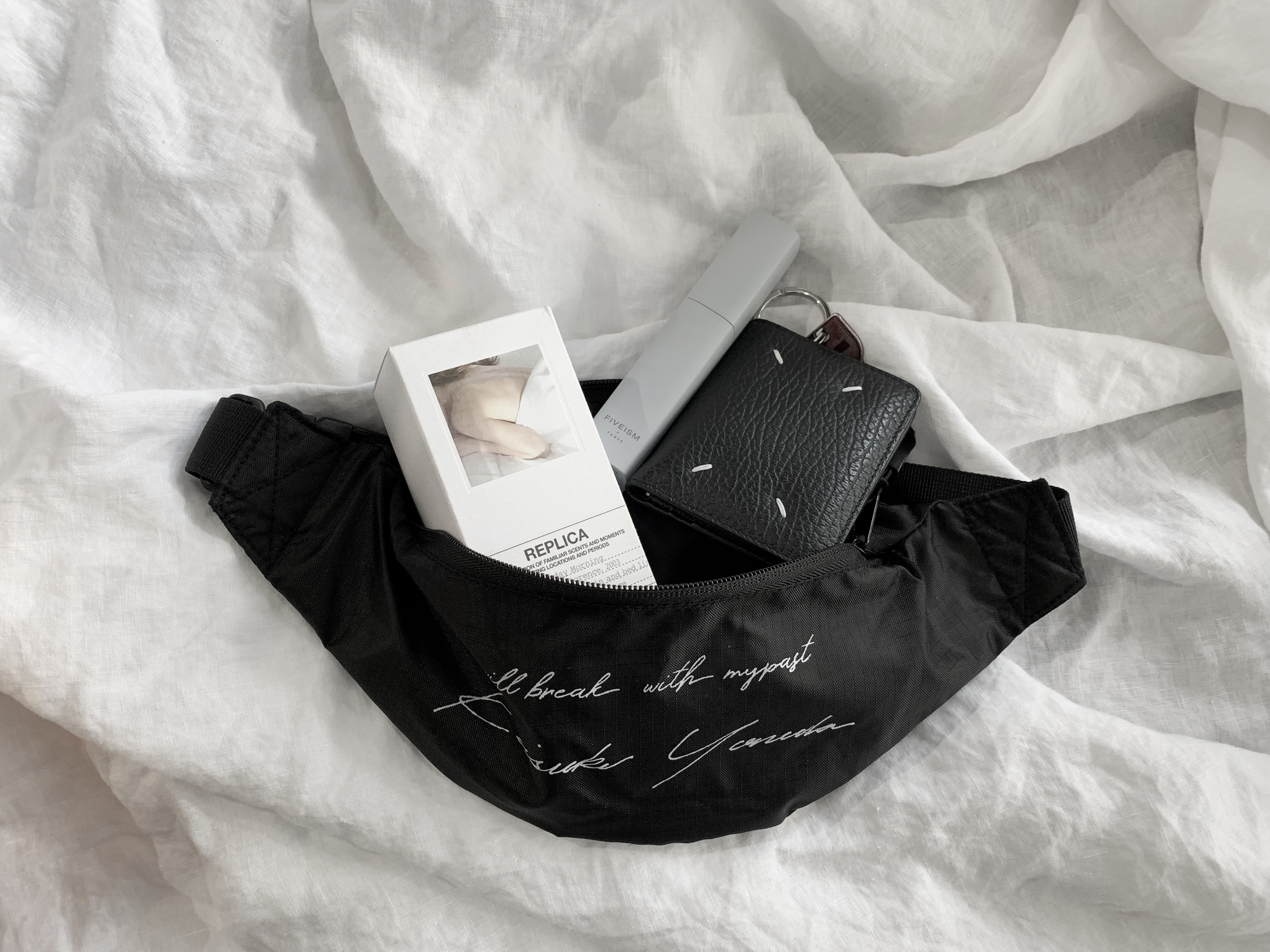 【フリー分完売。 受注生産】Keisukeyoneda nylon west pouch black