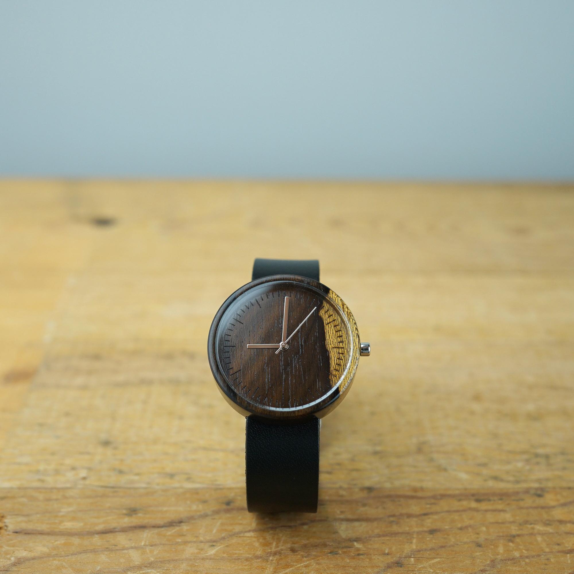 シャムガキ Ebony wood - Japanese leather - L