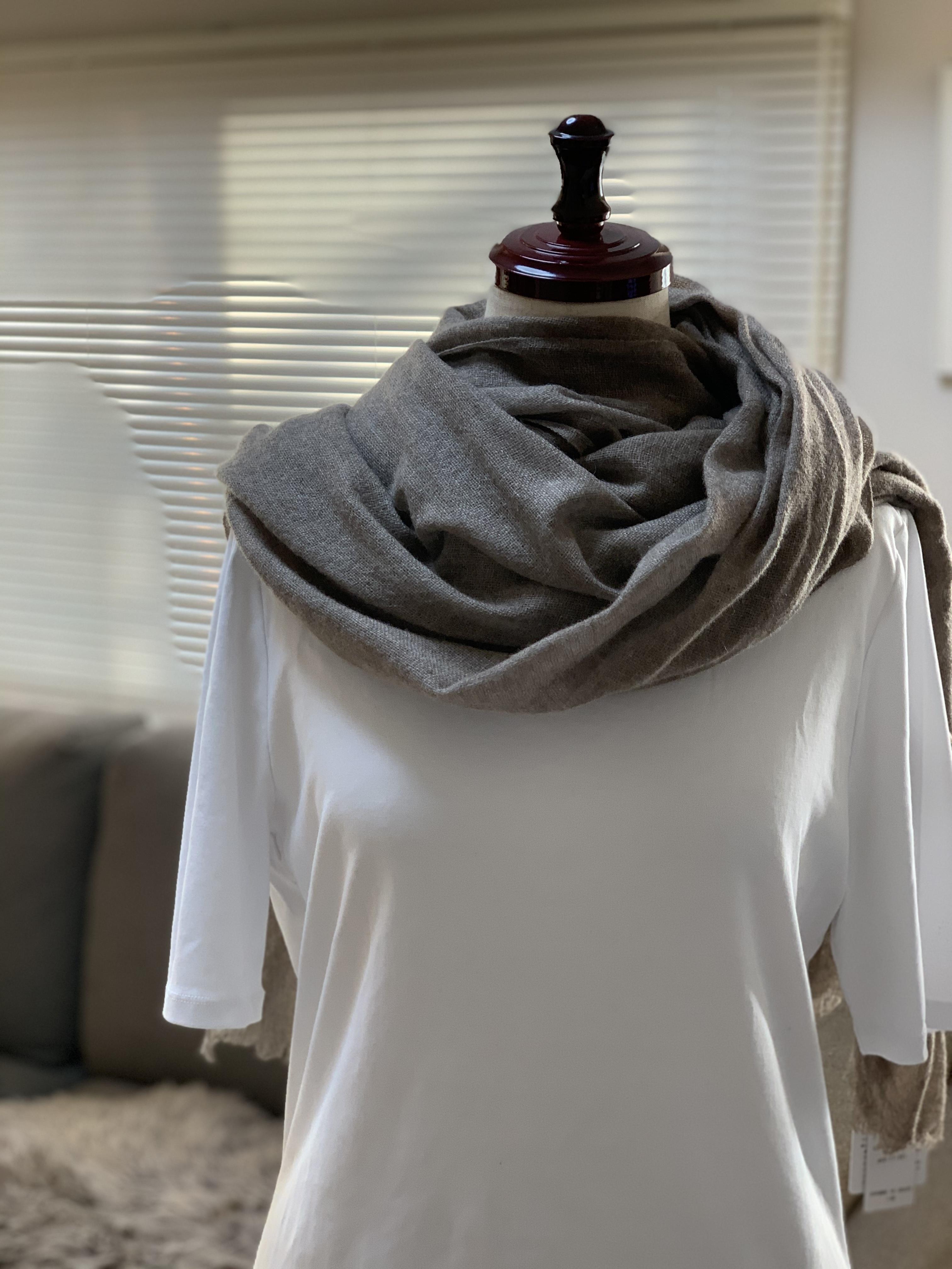 CALEIDO100%かガーゼスカーフ(Sepia)081