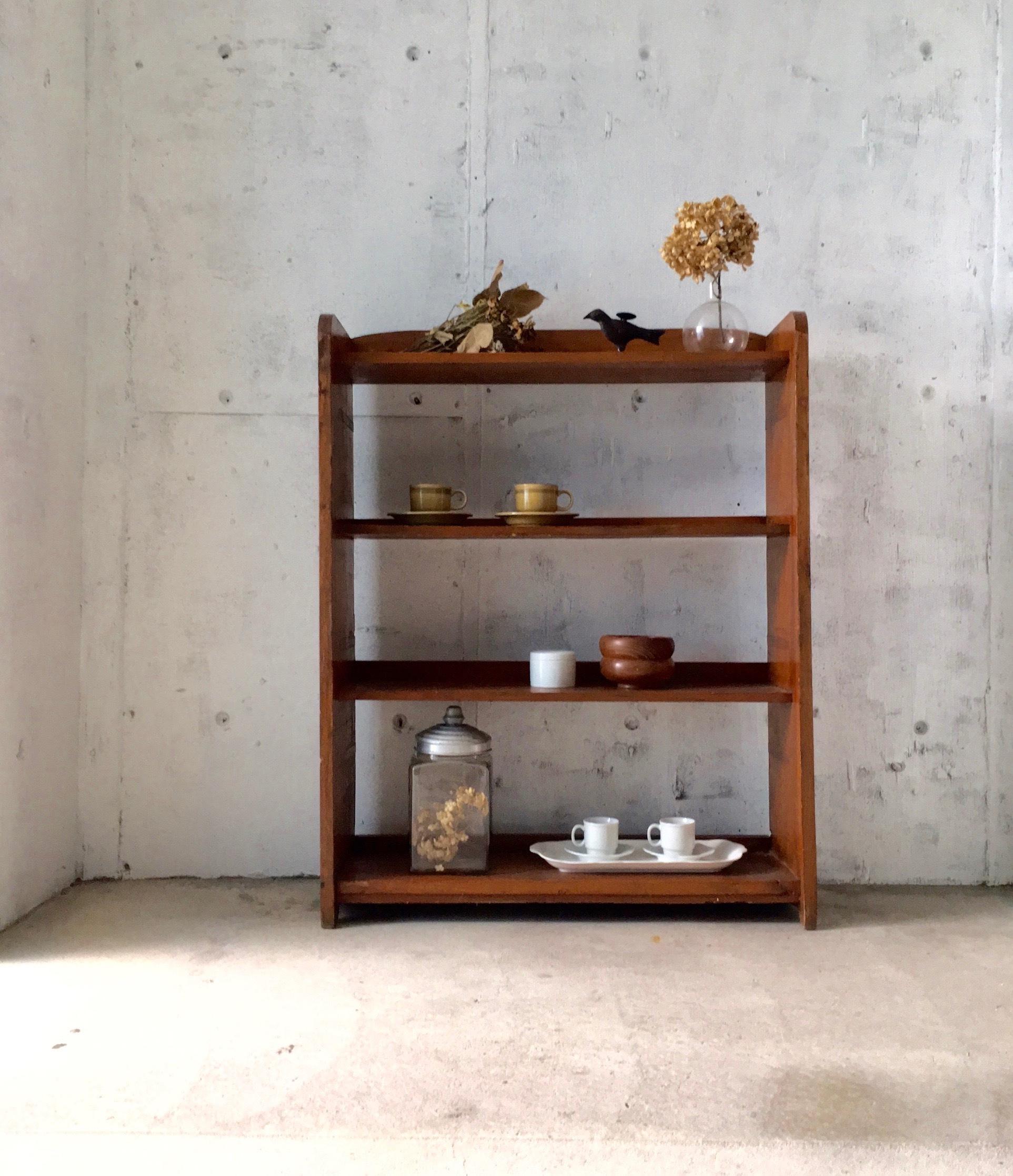 木味のディスプレイ棚[古家具]