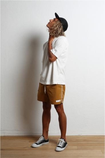 edit clothing Line board shorts(ラインボードショーツ/マスタード)
