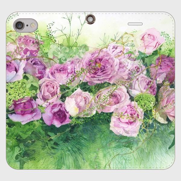 【受注生産】 帯無し手帳型スマホケースroses roses rose・・・・・!
