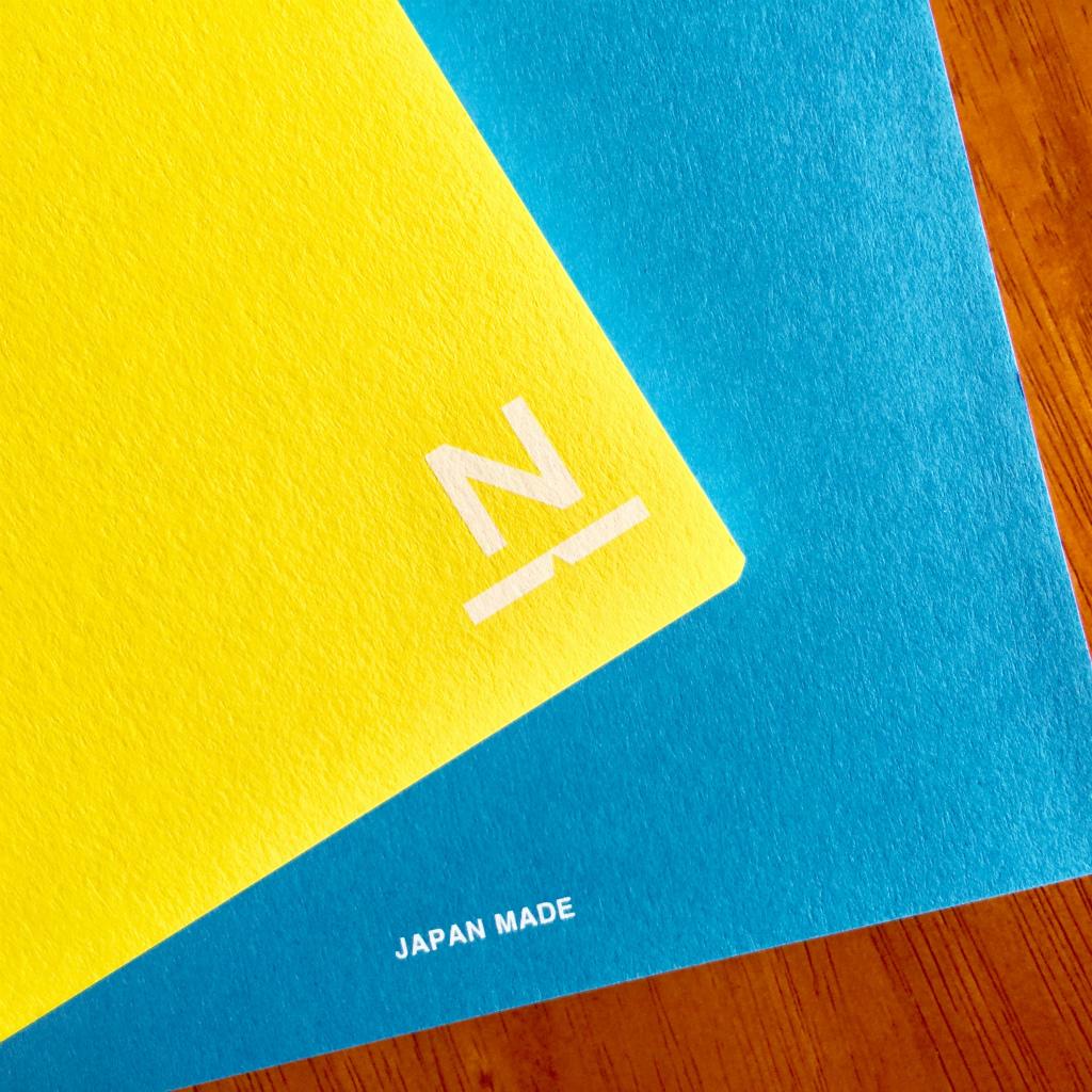 ノンブルノート「N」(02)イエロー×スカイブルー(※2020マンスリー付)