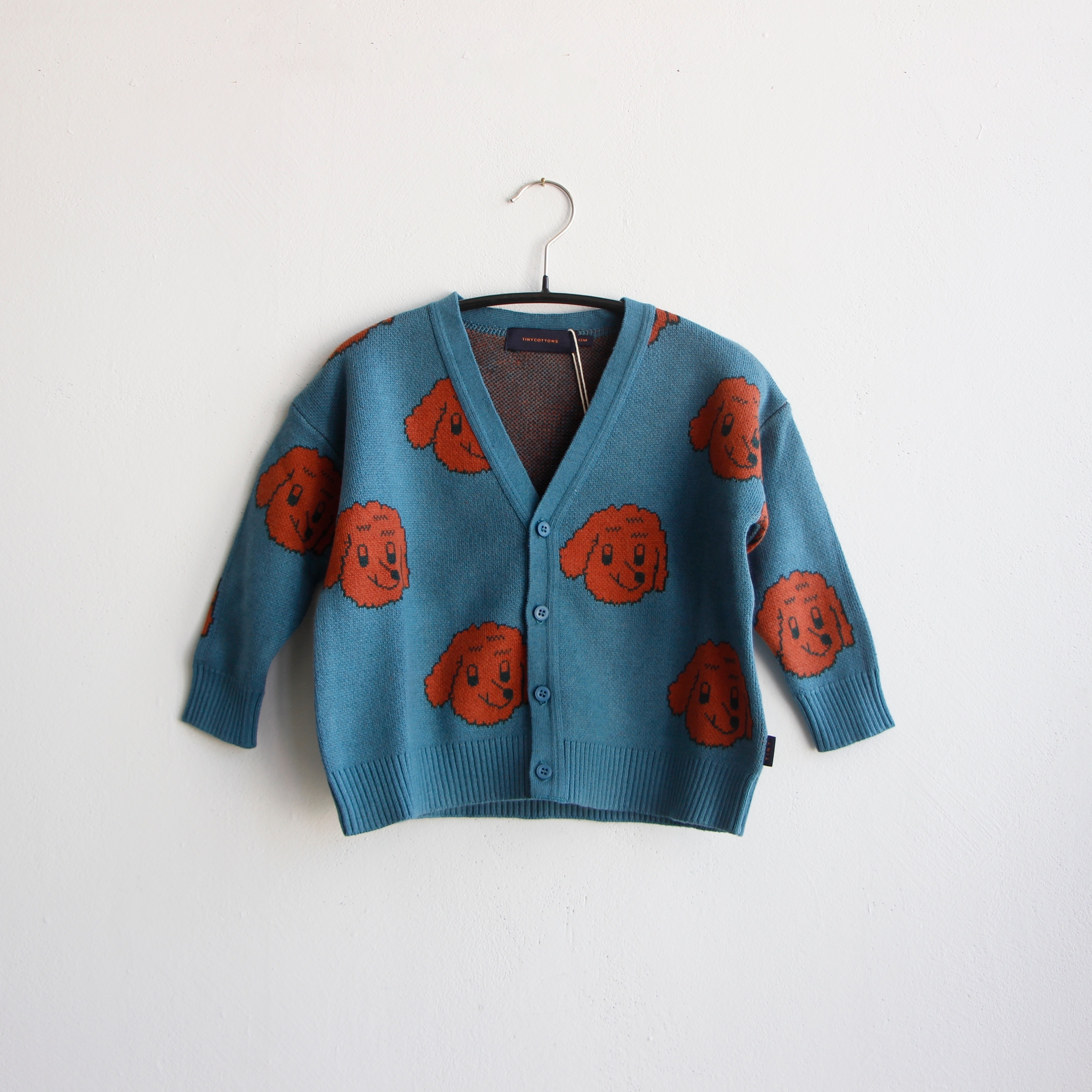 《TINYCOTTONS 2020AW》DOG CARDIGAN / Tricot × Woolcot / 12・18M