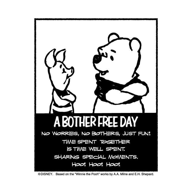 【ディズニー】 A BOTHER FREE DAY(くまのプーさん) Tee