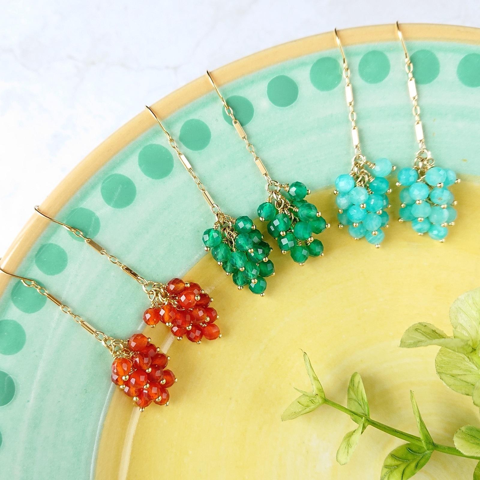 grape pierce / earring 028