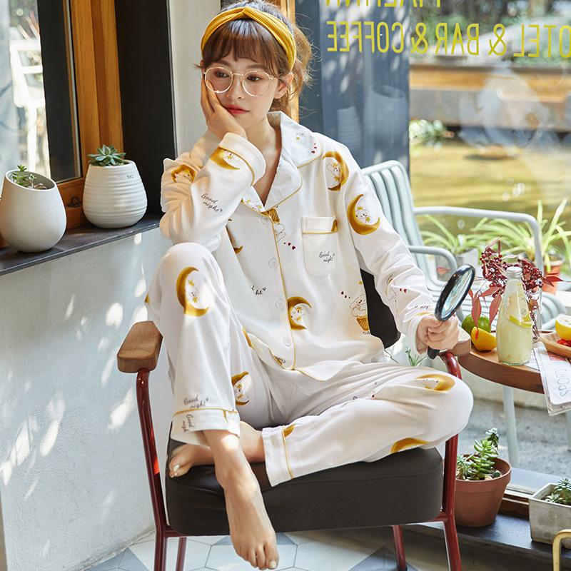 【パジャマ】2点セットシンプル長袖スウィートパジャマ26508199