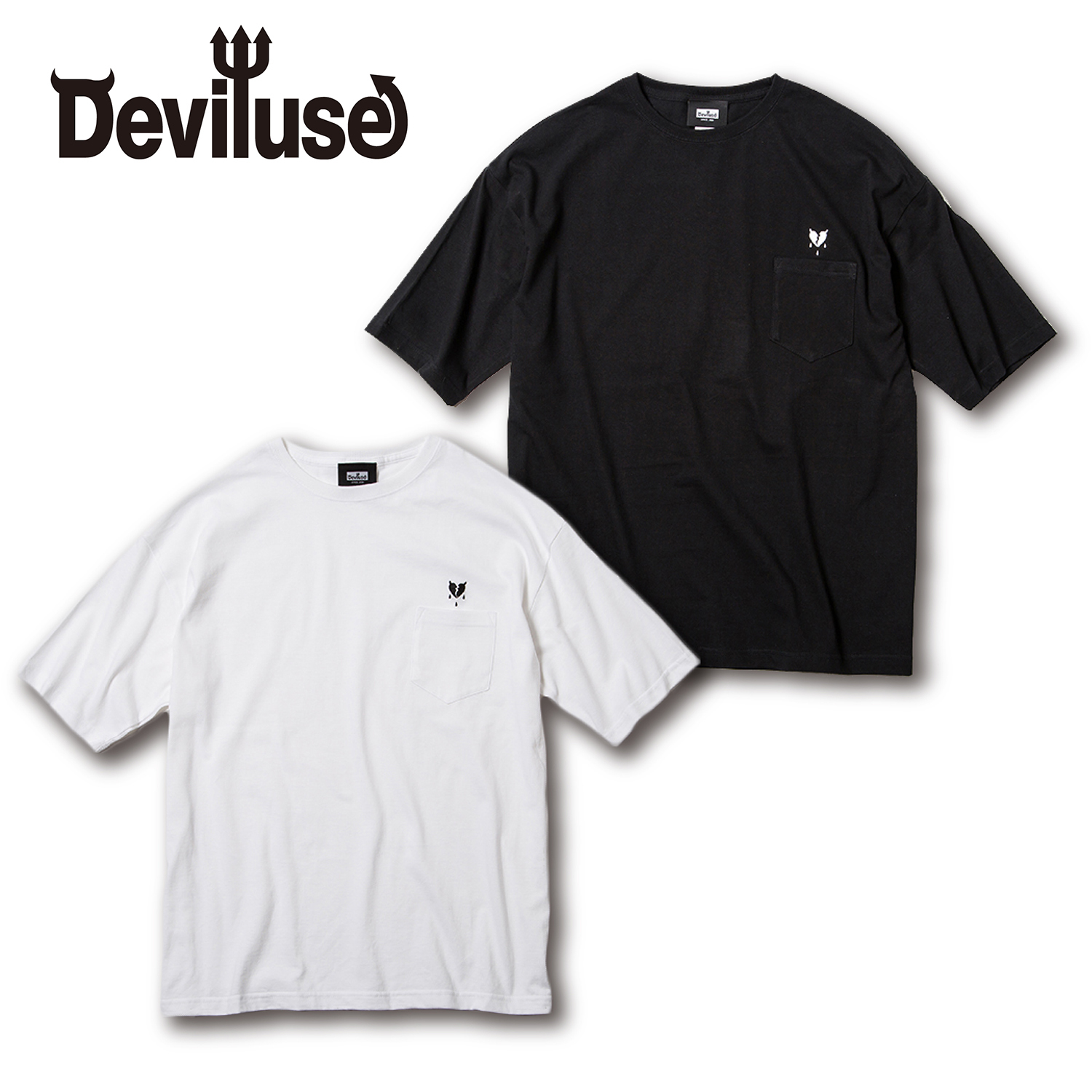 Deviluse(デビルユース) | Heartaches Pocket Big T-shirts