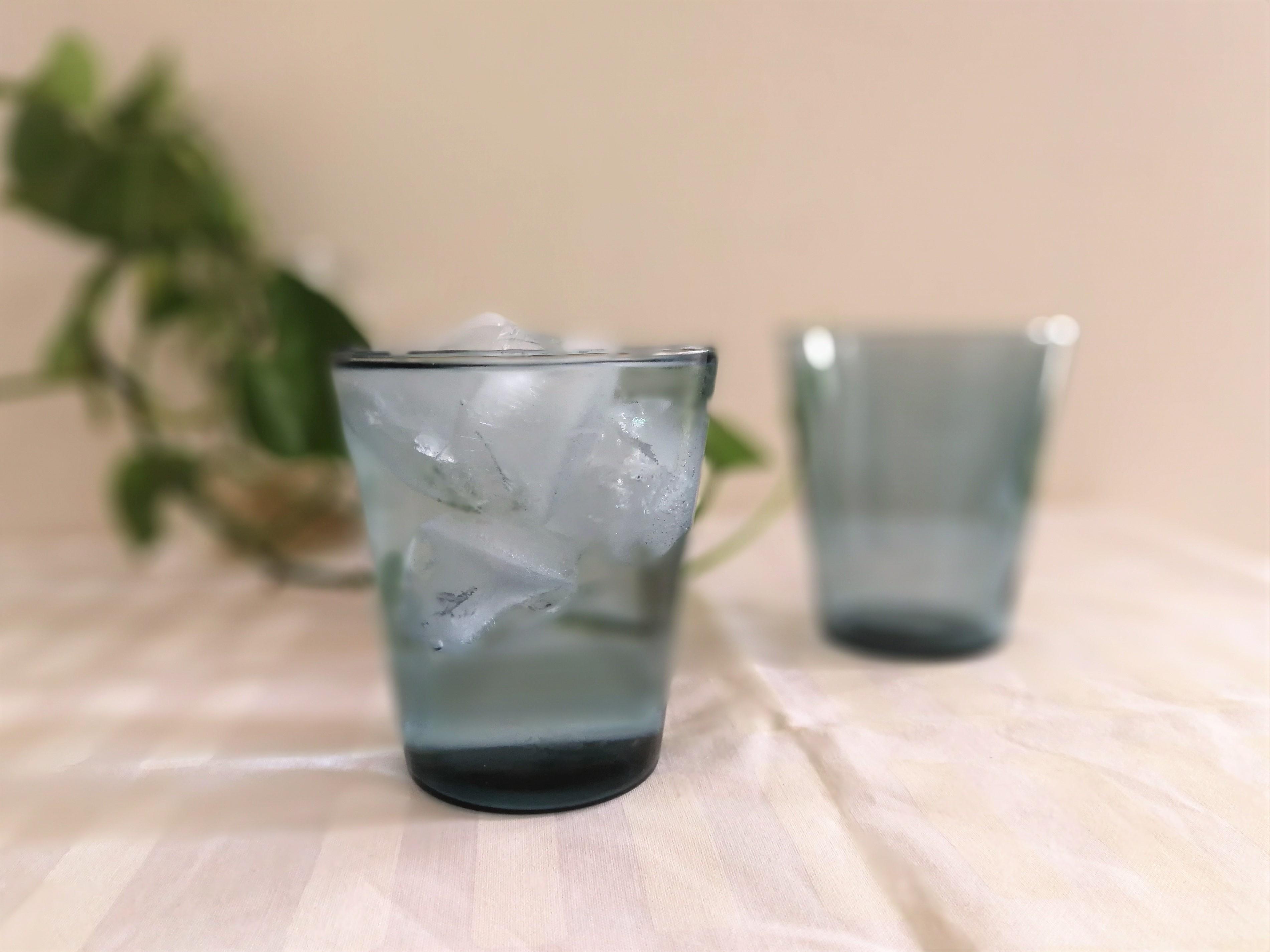 グラス / NUUTAJARVI ヌータヤルヴィ / Kartio カルティオ  マウスブロー (ブルー)