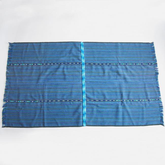 湖畔の村の青い手織物 /280a/ GUATEMALA グアテマラ