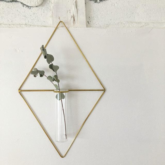 PIKE / wall brass vase (DIAMOND) 一輪挿し 花瓶