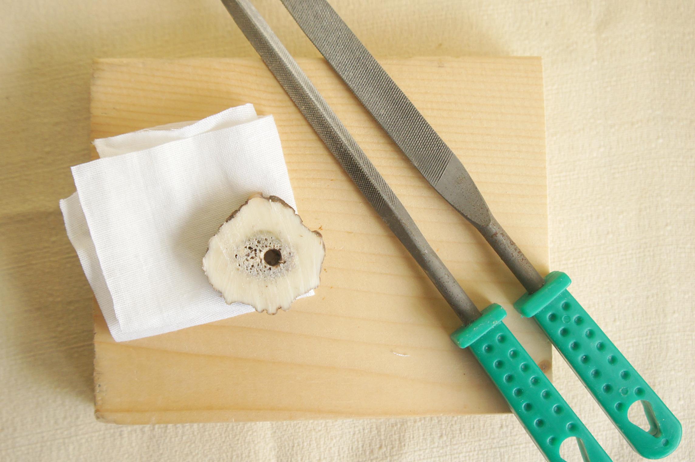 鹿角の指輪制作キット(ヤスリ2種付)