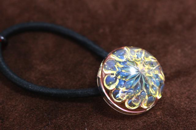 【Blue&Perple Flower】青と紫の花ヘアゴム