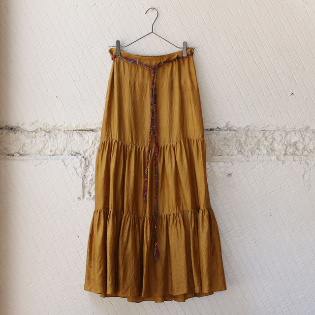【nowos】SILK TIERED SKIRT