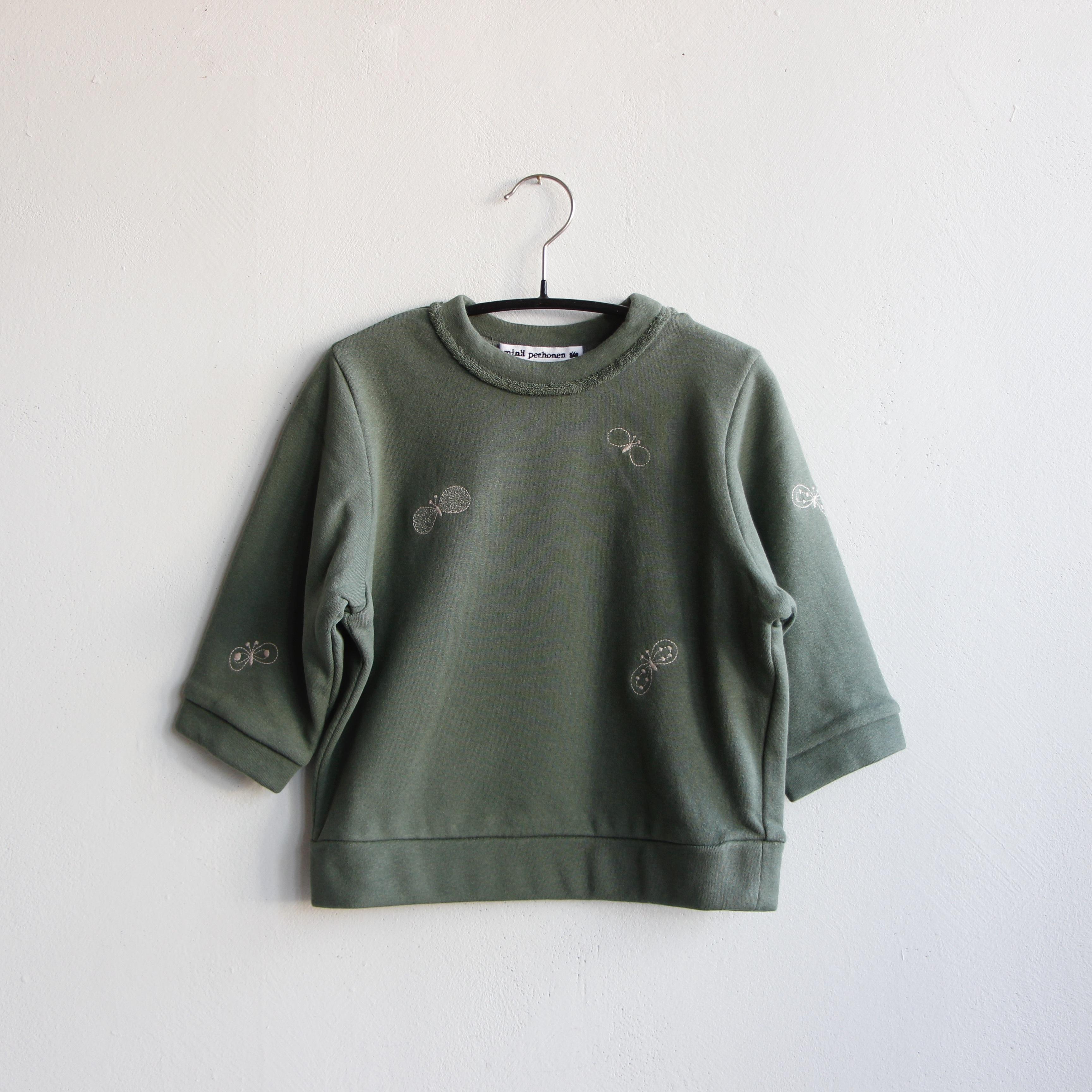 《mina perhonen 2020AW》choucho プルオーバー / moss green / 110-120cm