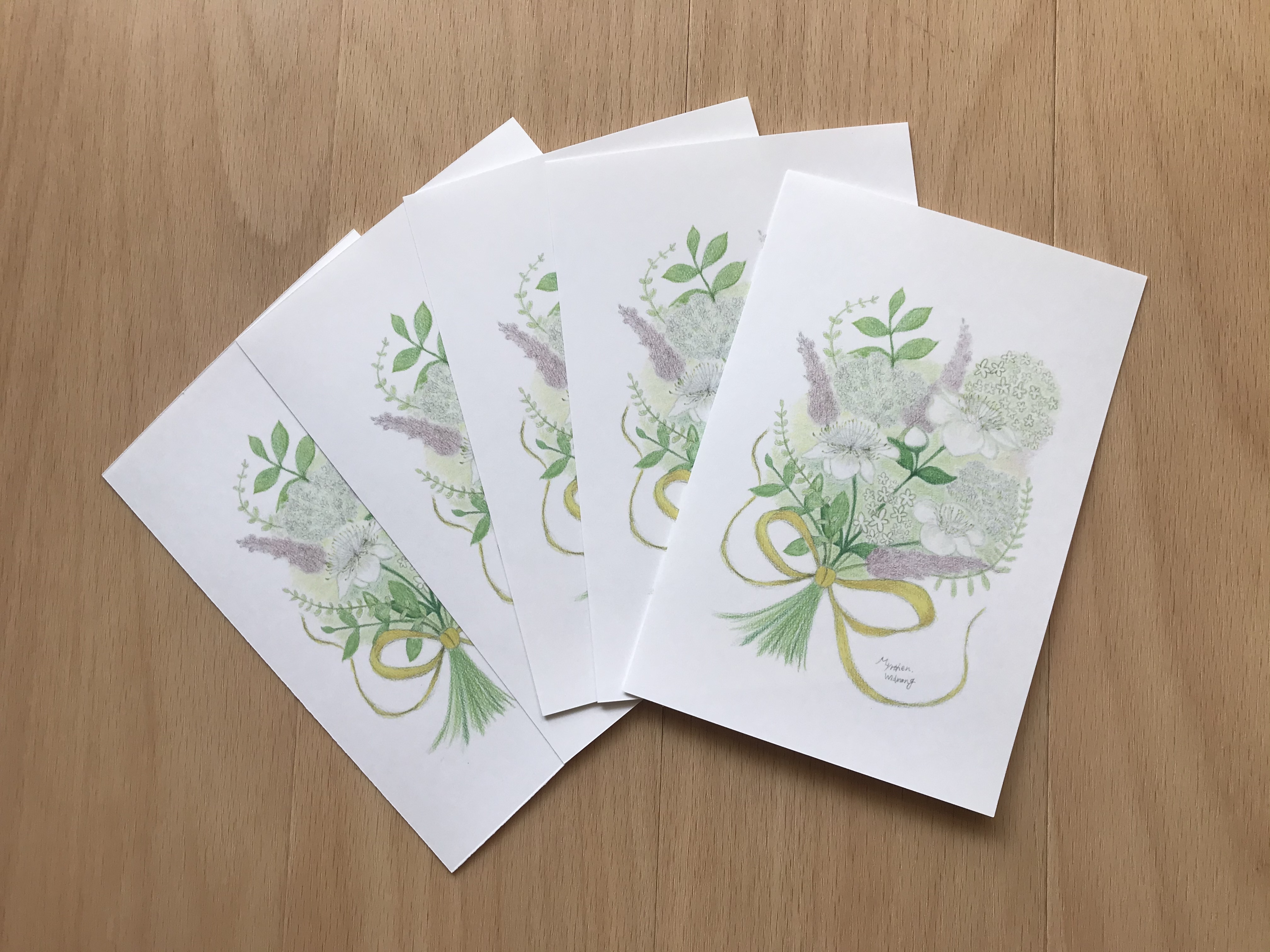 Hibikism vol.Ⅱ ポストカード5枚セット『ミルテの花 / シューマン(リスト編曲)献呈』