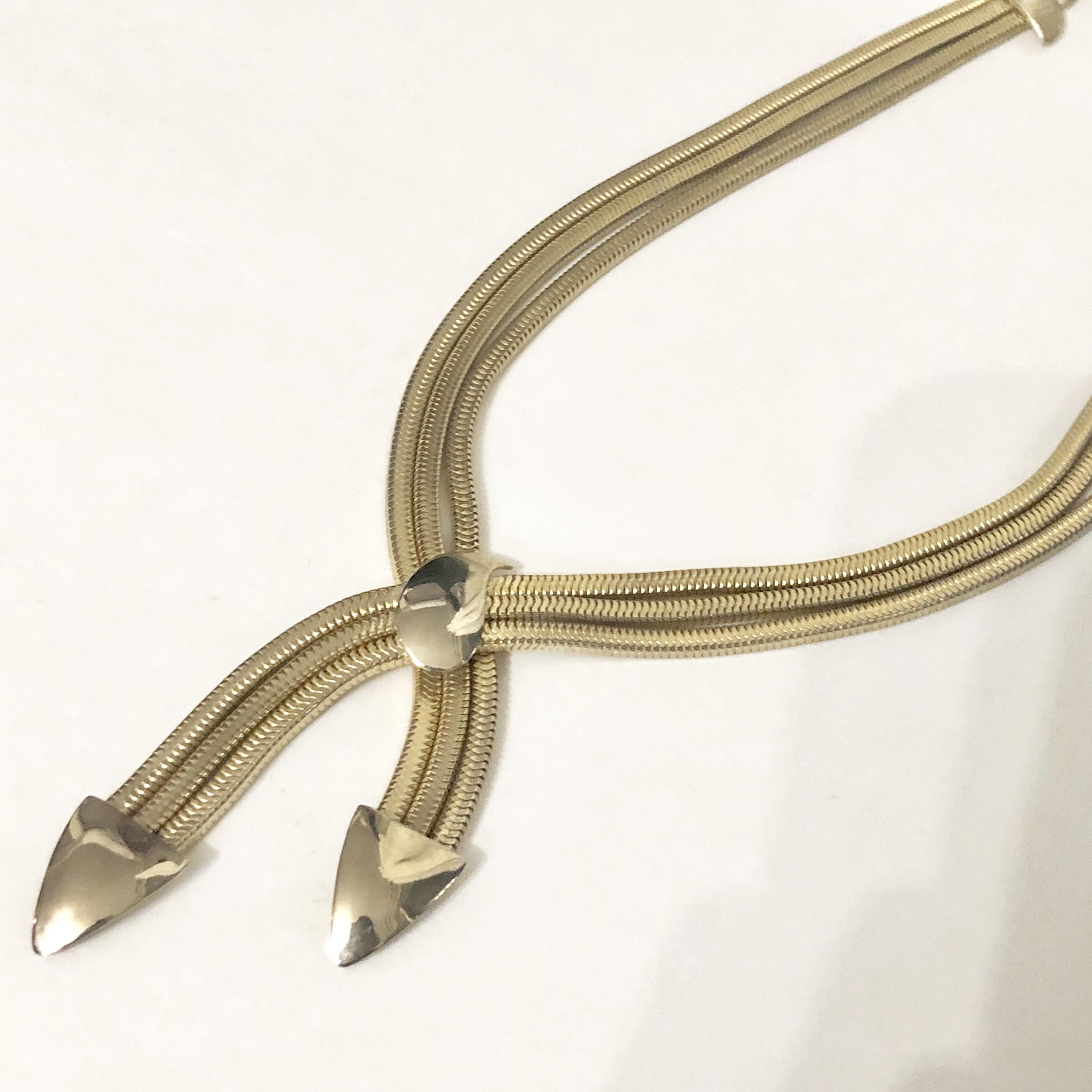 Vintage triple fringe necklace No.603*