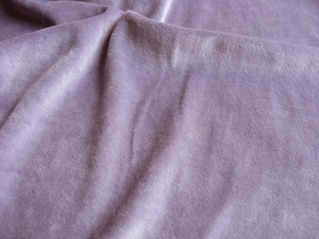 綿混ニットベロア 藤紫 NTM-2113