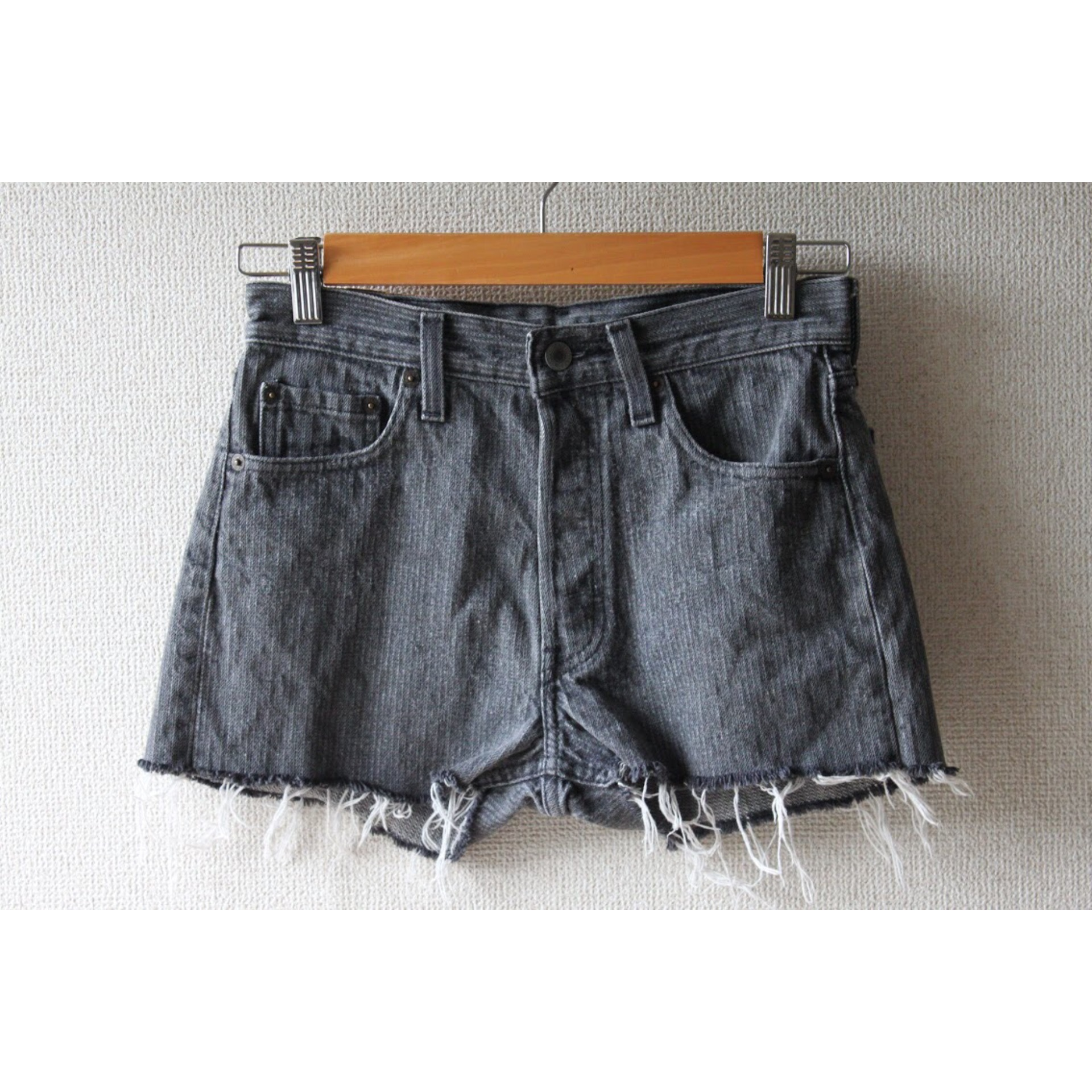 Vintage stripe denim shorts by Levis