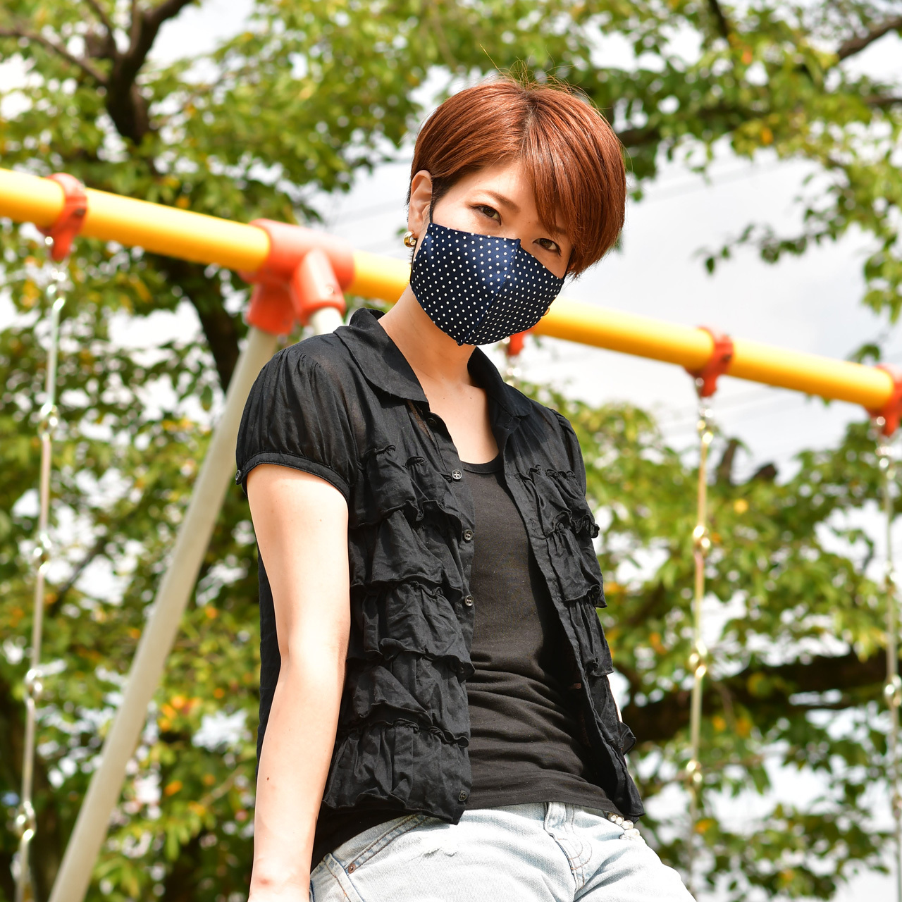 水玉マスク
