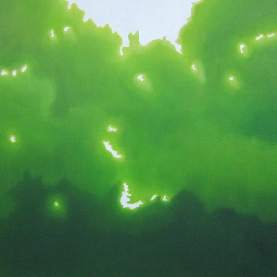 絵画 インテリア アートパネル 雑貨 壁掛け 置物 おしゃれ こもれび 木漏れ日 自然 風景 ロココロ 画家 : 馬見塚喜康 作品 : こもれび-Ⅶ