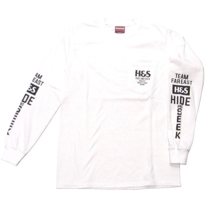 HIDEANDSEEK(ハイドアンドシーク) / H&S POCKET L/S TEE(HT-021019)(ロングスリーブTシャツ)