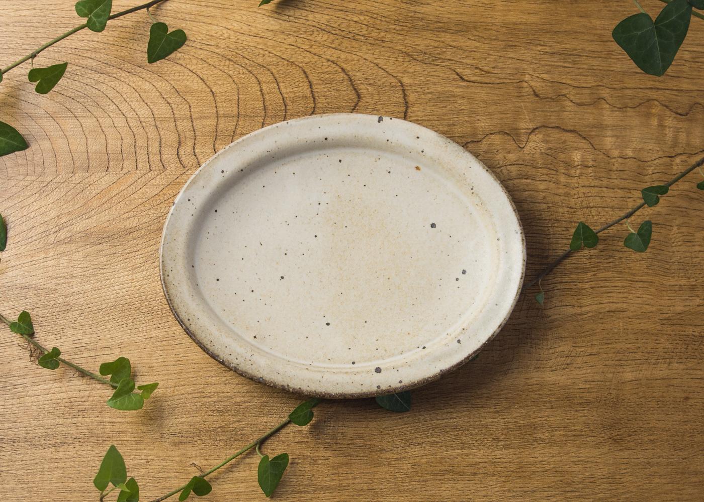粉引 オーバル中皿 2/くるり窯