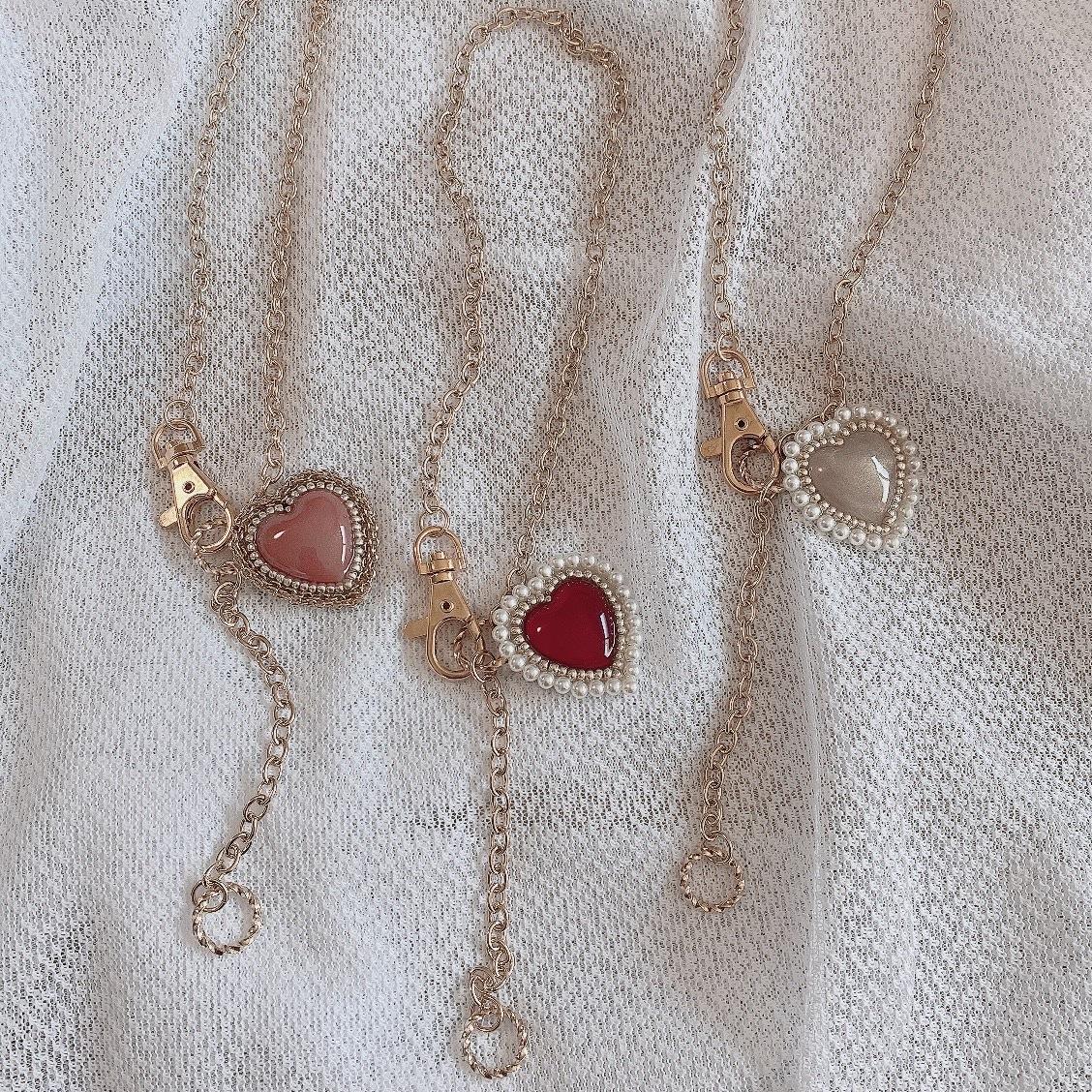 リコレハート ネックレス(terracotta・ruby red・gold)