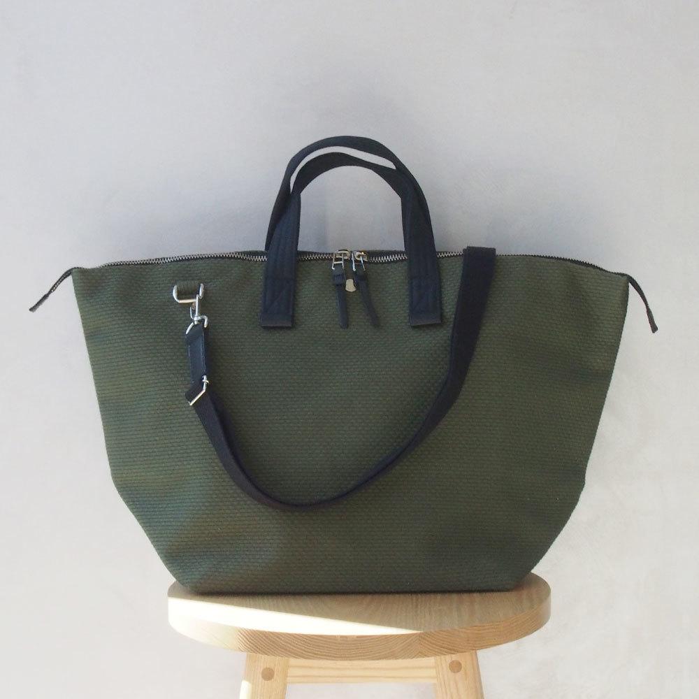 CaBas N°32-Bowler bag medium + Shoulder strap Khaki/Black