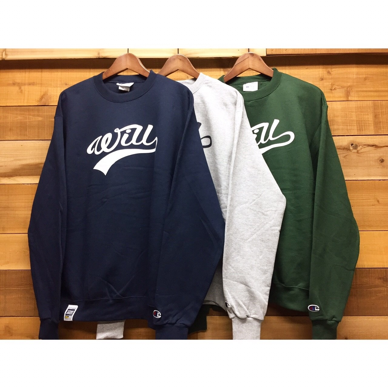 ※予約 WILL SCRIPT LOGO CREW SWEAT