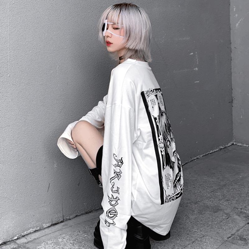 【tops】 ストリート系個性プリント合わせやすいTシャツ23867498