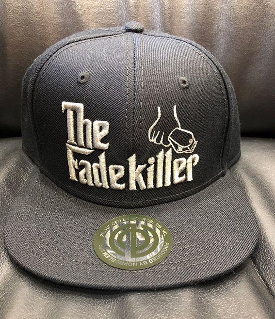 "BARBERS "" The Fadekiller"" CAP ブラック×シルバーグレー"