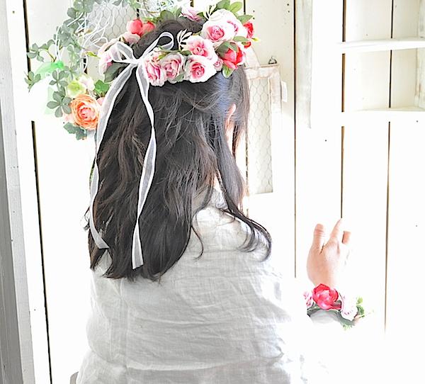 花冠とリストレットのセット(プリザーブドフラワー)
