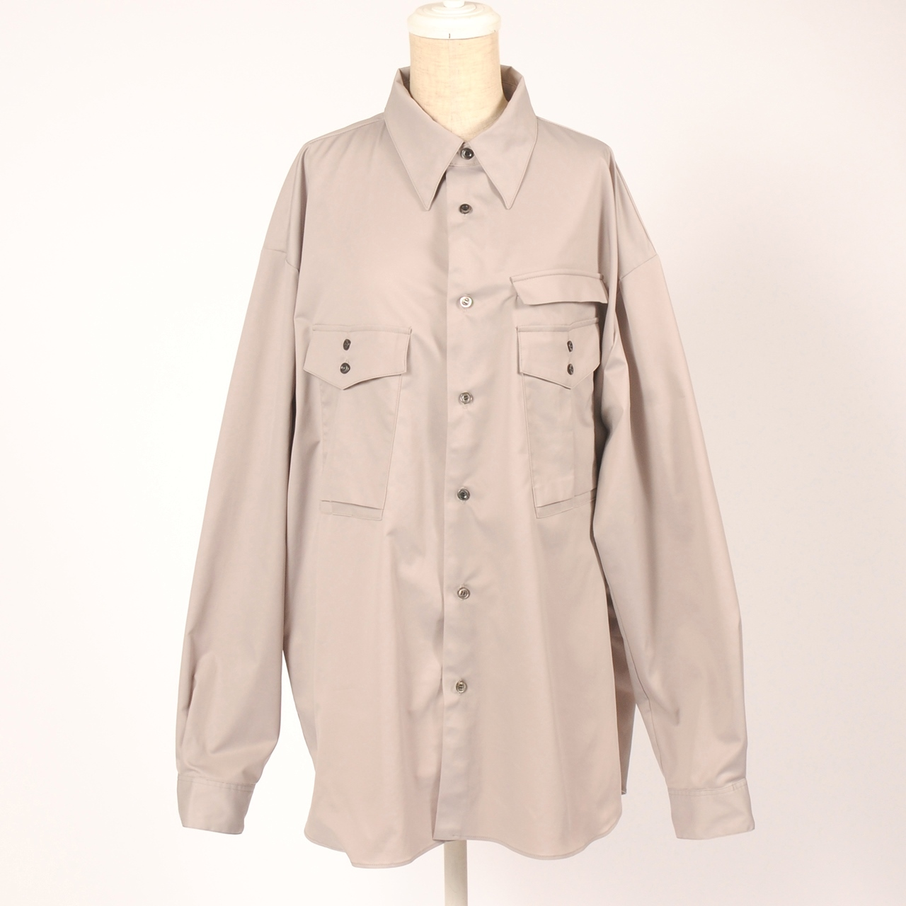 ◆ご予約商品 hs20SS-IR04 WIDE SHIRT -B (gray)