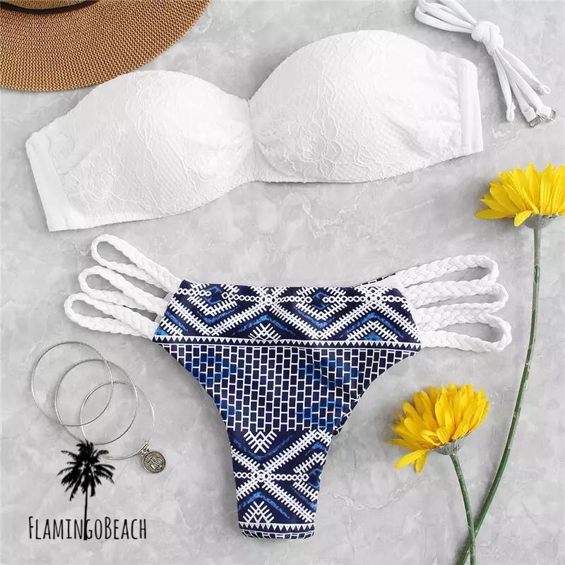 【FlamingoBeach】lace cup boho bikini レースビキニ