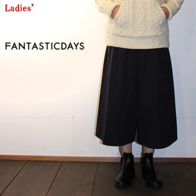 FANTASTICDAYS/ファンタスティックデイス ガウチョパンツ GIRLY-63-01(D.GRAY) 【Ladies'】