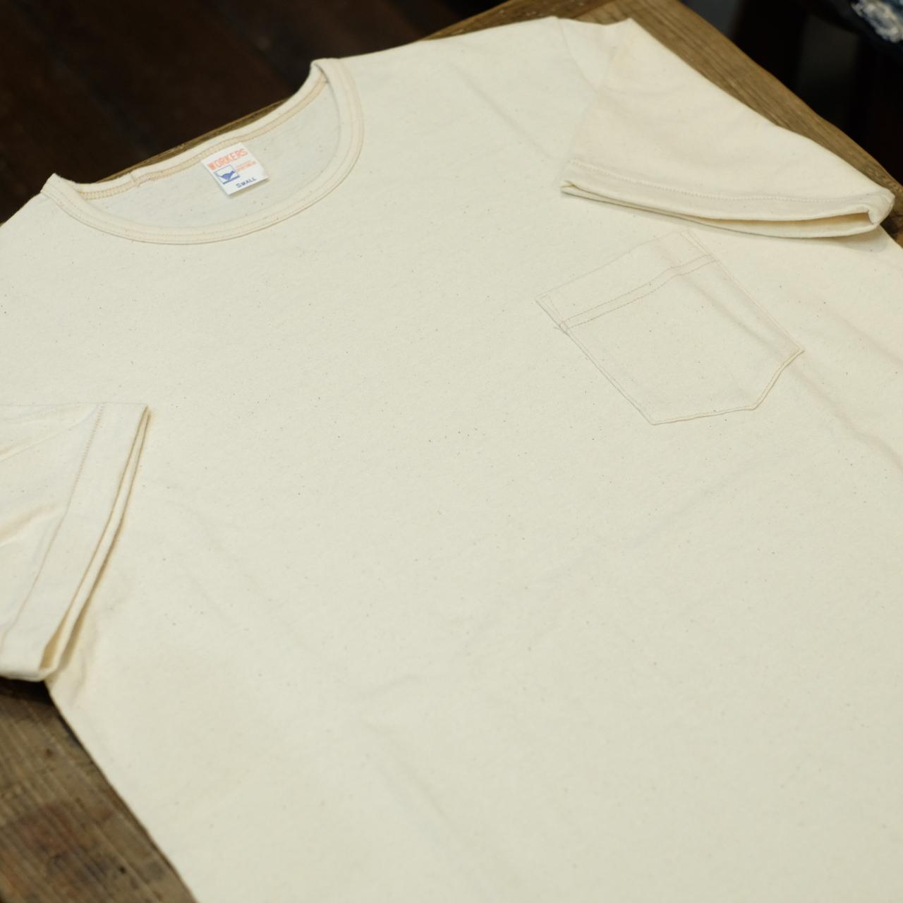Workers(ワーカーズ) ポケットTシャツ クルーネック オートミール