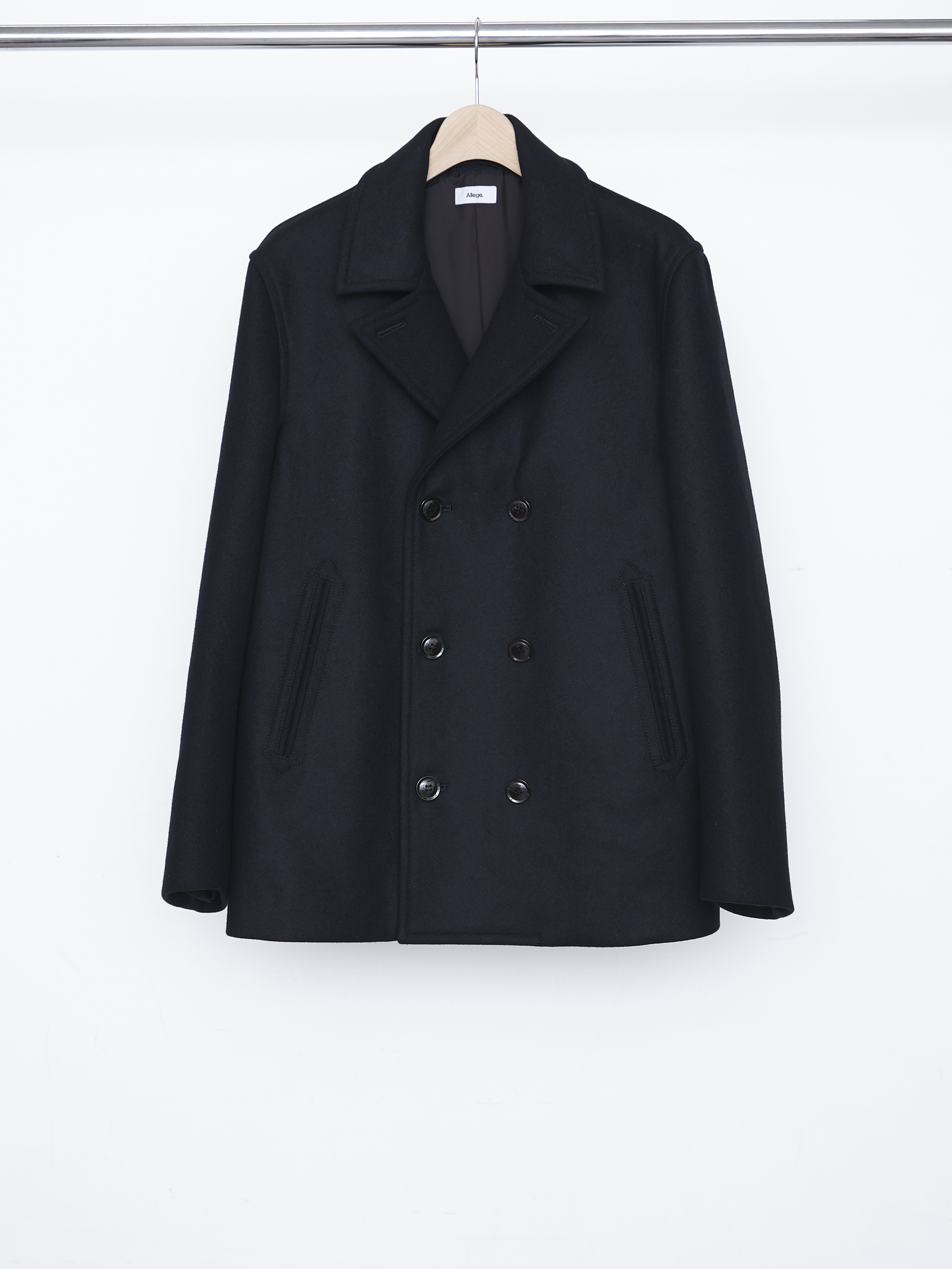 W Melton P Coat - Black